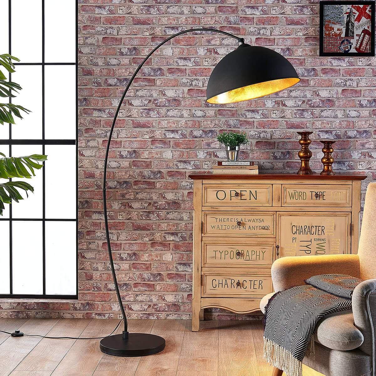 Trendige Bogenlampe Von Lindby Schwarz In 2020 Bogenlampe