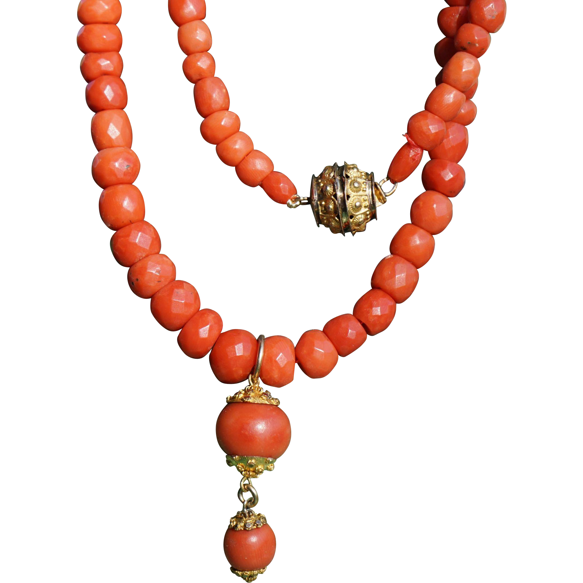 choker necklace,red coral necklace,natural coral necklace,short necklace,red necklace Double-wire chip coral necklace