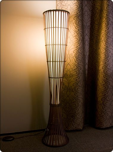 Petak Bamboo Floor Lamp Portables Floor Lamps New Zealand S