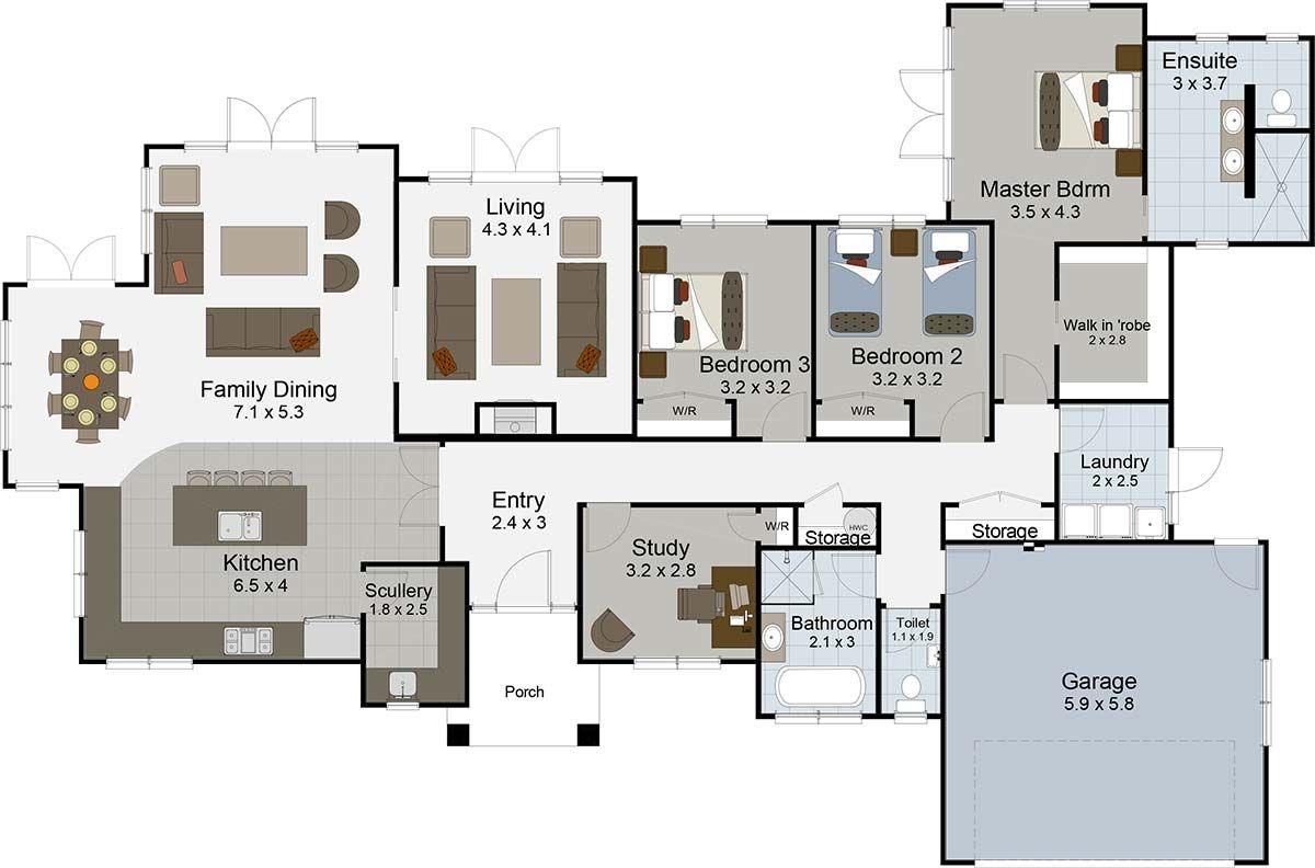 Landmark Homes House Plans Single Level House Plans Bedroom House Plans
