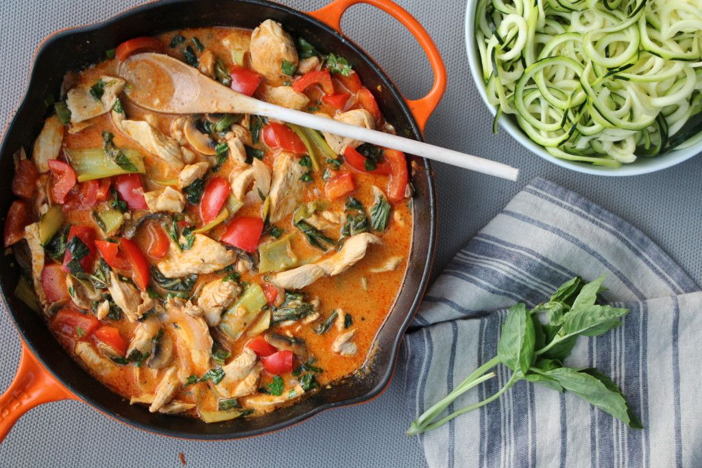 Thai Red Curry with Chicken and Veggies, whole 30 and paleo approved Thai Food. | The Defined Dish