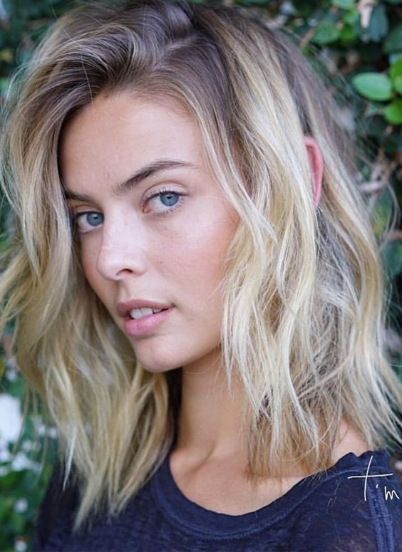 2017 2018 Shoulder Length Blonde Ombre Haircuts Hairstyles 2019