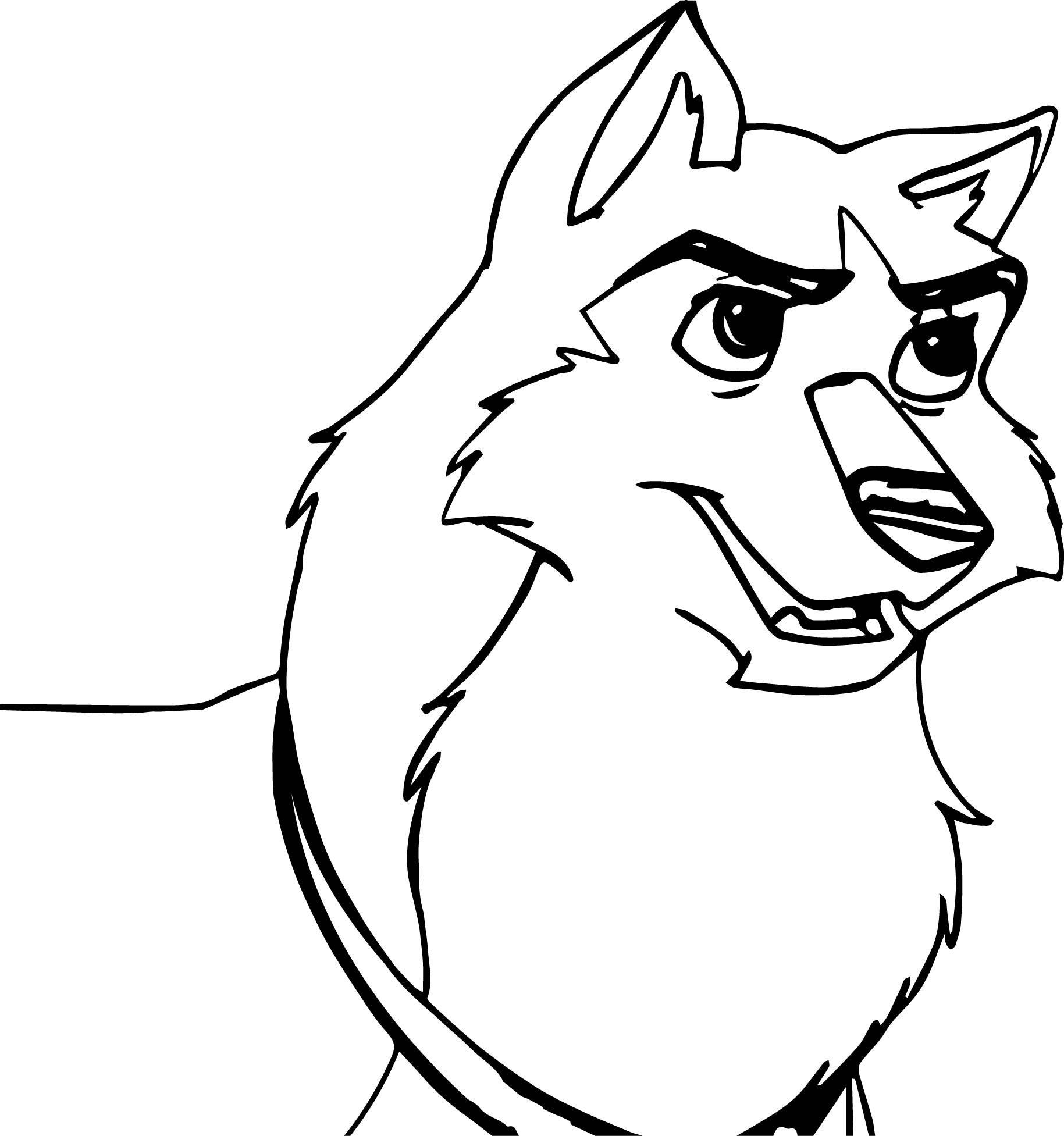 awesome Balto Kodi Base Based On Movie Scene Wolf Coloring Page