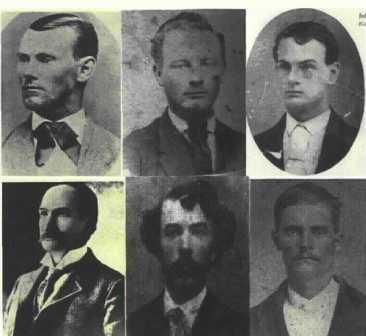 Early Photographs Of James Younger Gang Outlaws Top Row Jesse