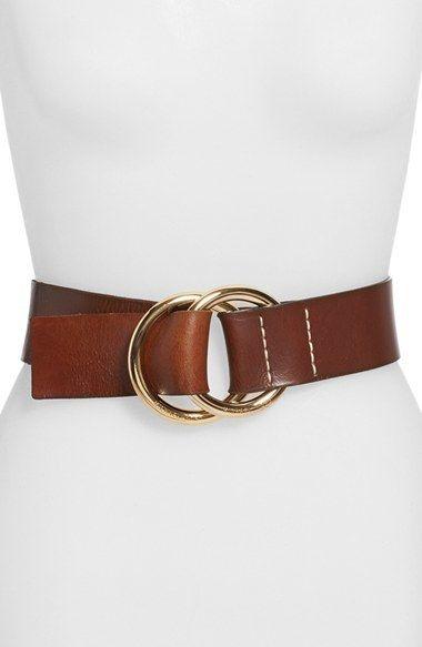 Michael Michael Kors Michael Kors Wide Leather Ring Belt Kemer Cantalar Aksesuarlar