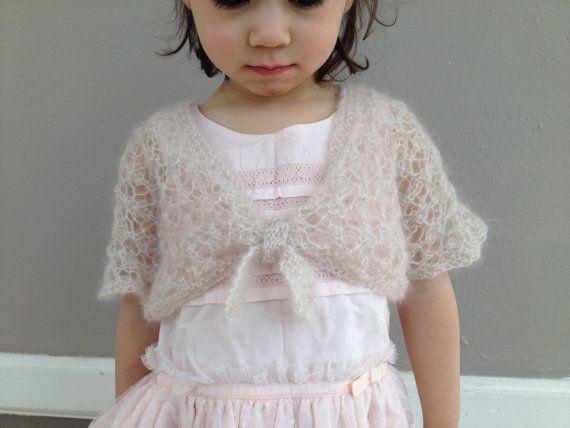 Baby Girl Shrug Toddler Cardigan Hand Knit Sweater Bolero