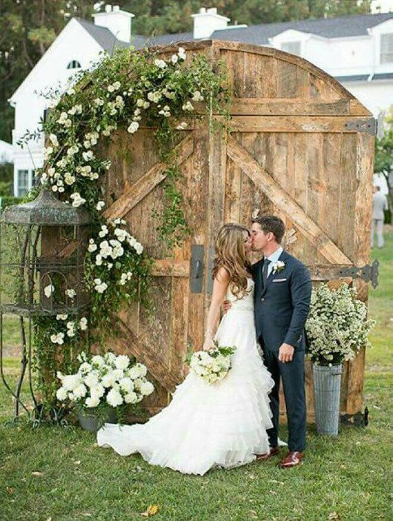 Barn Door Replica Rustic Backdrop Wedding Headboard Photography
