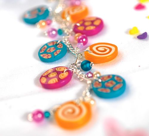 how to make millefiori beads with fimo soft polymer clay for a summer themed jewellery. Black Bedroom Furniture Sets. Home Design Ideas