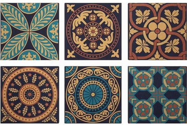 Moroccan Tile Pattern Canvas Wall Decor | Canvas Wall Art