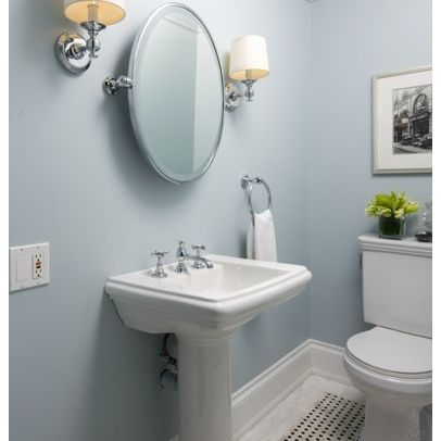 bathroom wall colorhouzz, blue bathroom design