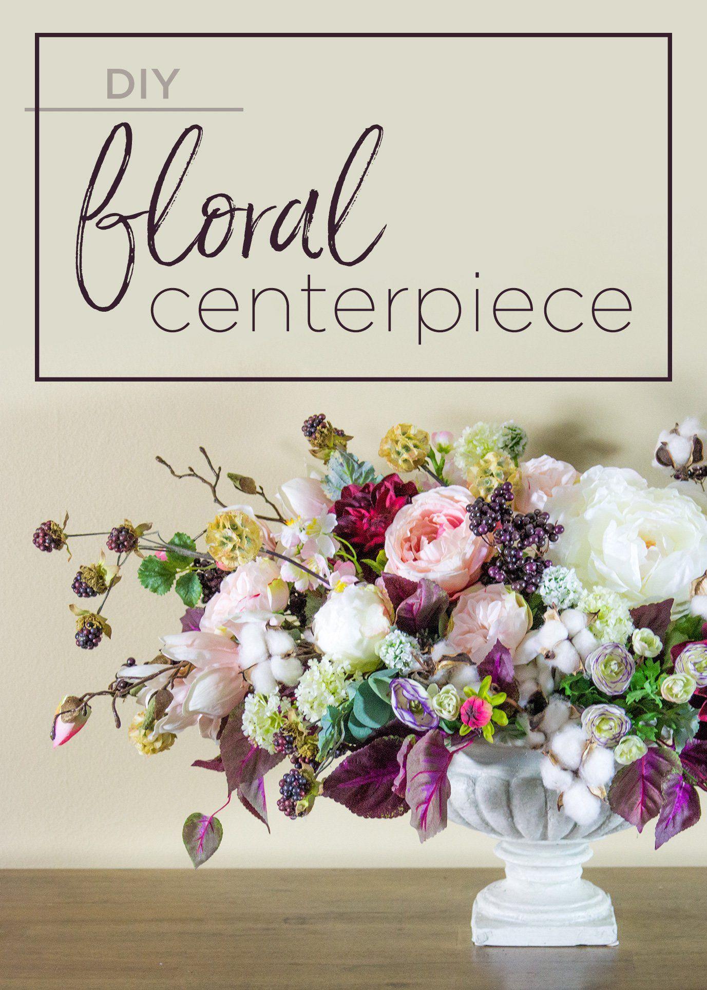 DIY Faux Floral Centerpiece Faux floral centerpiece