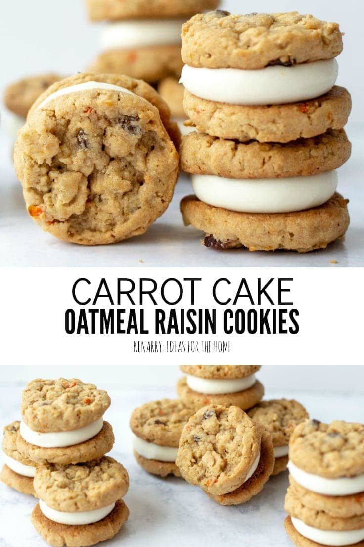 If you need an easy spring dessert recipe look no further Carrot cookies with oatmeal raisins and shredded carrots are like a delicious mini carrot cake 37992091856400681...