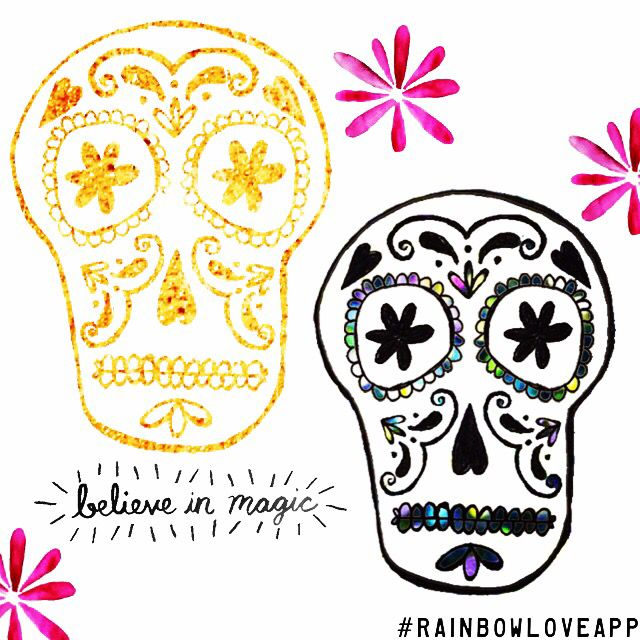 Day of the dead skulls now in rainbow love greetings app add them day of the dead skulls now in rainbow love greetings app add them to m4hsunfo