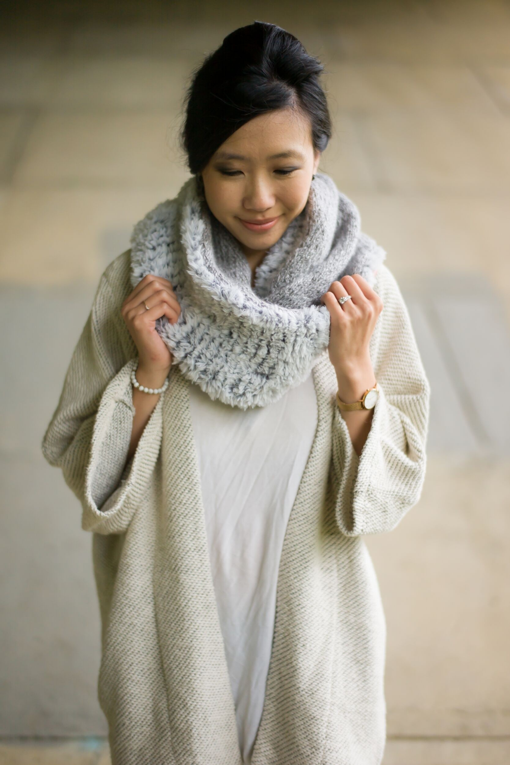 Photo of Knit Kit – Luxe Faux Fur Cowl