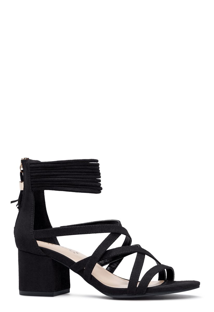 e17a03928188 Shoedazzle Sandals-Dressy - Single Sole Taysia Womens Black Size 6 ...