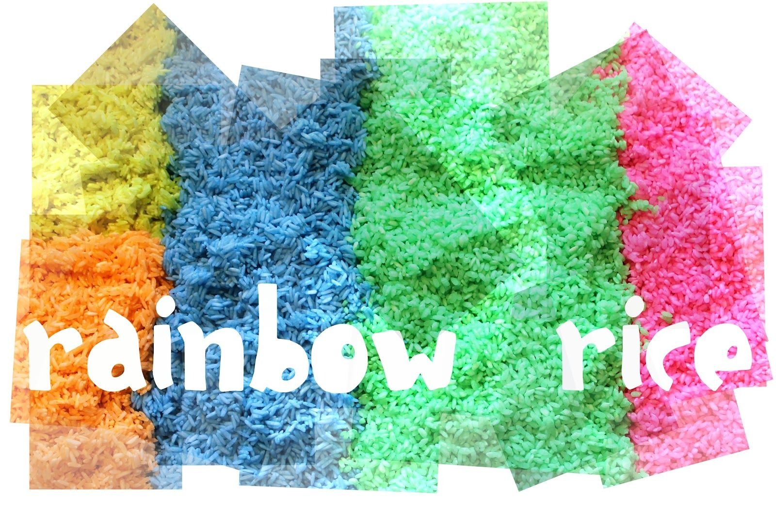How To Color Rice For An Art Project
