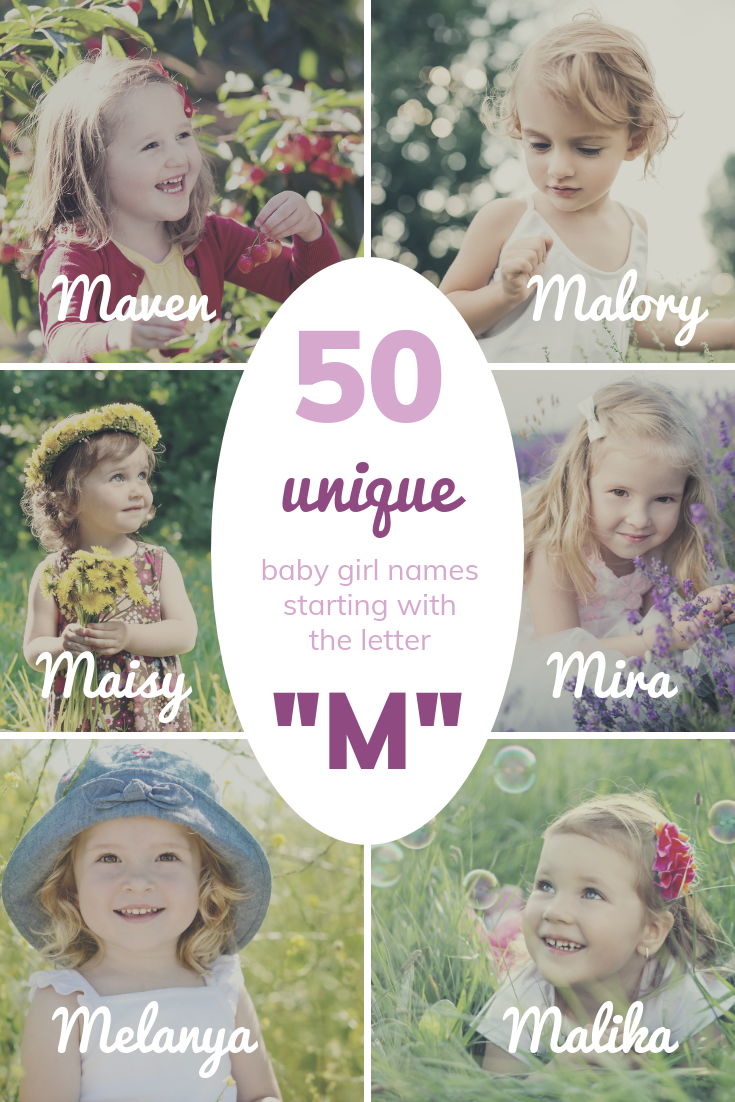 """50 UNIQUE Baby Girl Names Starting with """"M"""""""