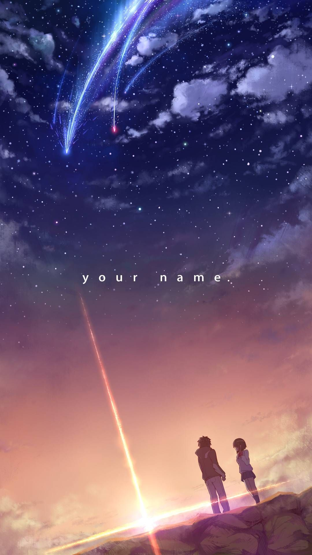 One Of The Posters Japanese Films Kimi No Na Wa  E  B E  Ae E  D E  Af Your Name Covers Characters Meteor Beautiful Cute Romantic Relationship Couple