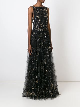 Valentino Star And Moon Embroidered Evening Dress Dresses In 2019