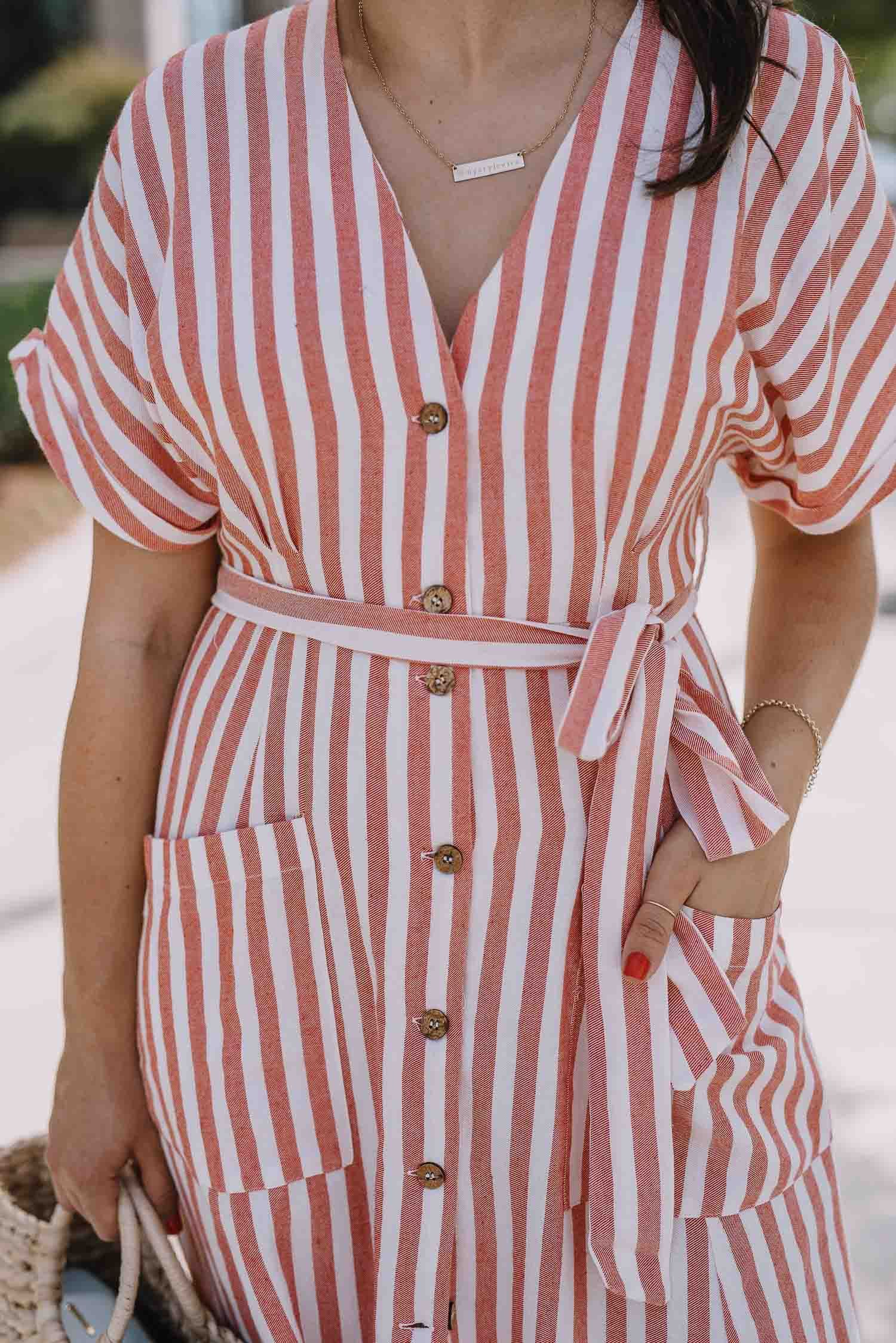 4th Of July Outfit Ideas That Feel Elevated An Indigo Day Red And White Outfits White Outfit Casual Striped Casual Dresses [ 2247 x 1500 Pixel ]