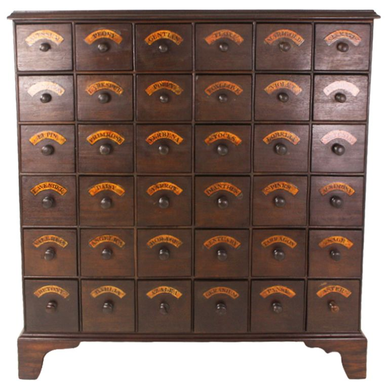 1stdibs   Tall Antique English Bank Of Flower Seed Drawers Explore Items  From 1,700 Global Dealers. Cabinet InspirationApothecary ...