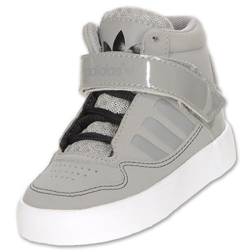 adidas AdiRise 2.0 Toddler Shoes | FinishLine.com | Grey/Black/White