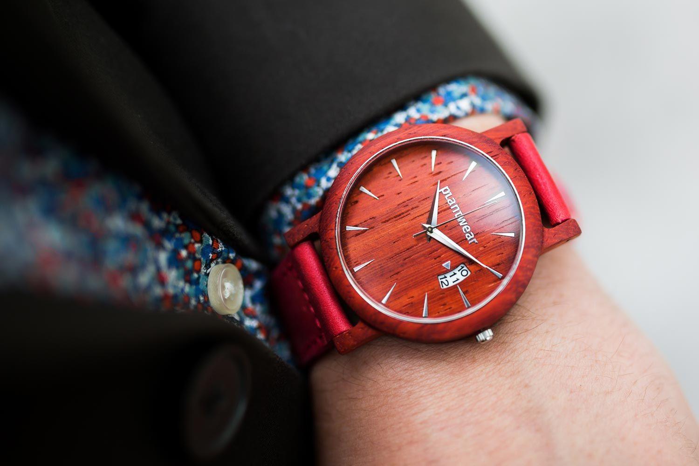 1b49e8128cfeb8 Drewniany Zegarek - Seria Royal - Padouk | Drewniany zegarek seria ...
