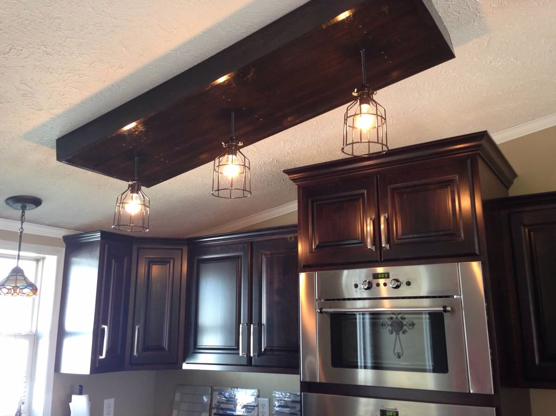 Lighting Inspiration Long Fixtures Kitchen Ceiling Lights: Custom Built Edison Bulb Light Fixture To Cover Up