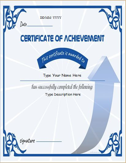 Certificate of Achievement DOWNLOAD at http\/\/certificatesinn - business certificates templates
