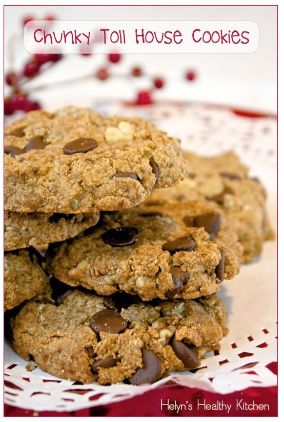 Helyn's Healthy Kitchen: Chunky Toll House Cookies. Vegan. Gluten-free. Oil-free.