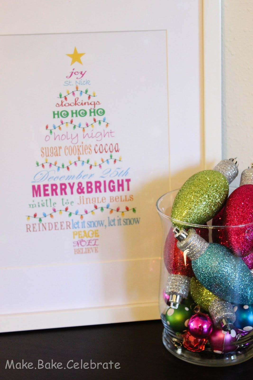 MBC: {Merry & Bright} Christmas Tree Subway Art Printable | Holidays ...