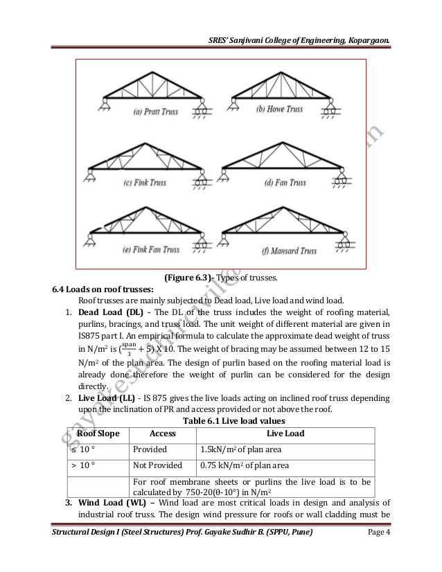 Room In Attic Truss Design: Design Of Industrial Roof Truss In 2020