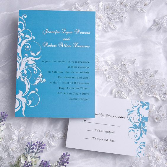 Ice Blue Vine Wedding Invitations 0 98 Vpon Promotion Enjoy 15 Of By Using Coupon Code Vpinvites End Date 28th