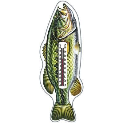 Rivers Edge Bass Tin Thermometer