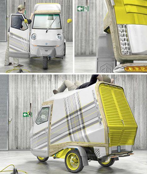 Tiny Truck + Mini Trailer = Super Small Mobile Camper Car! | Designs & Ideas on Dornob