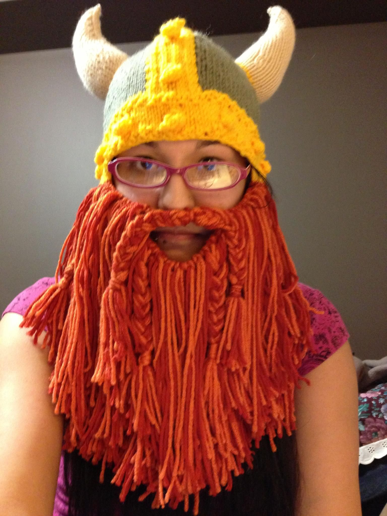 Viking hat with EPIC BEARD!!!!! - KNITTING | Knitting Atrocities ...