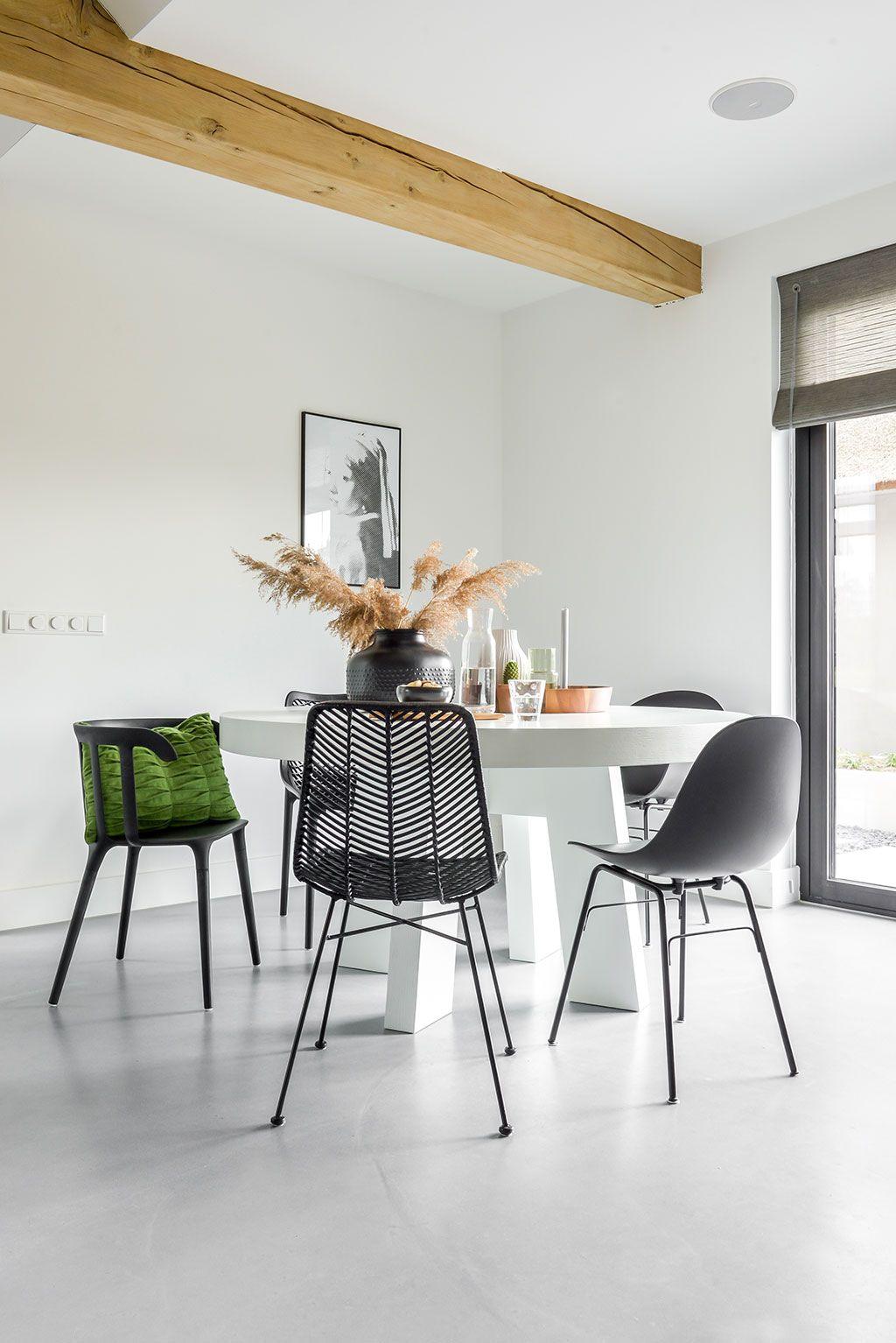Zwart Wit Eetkamerstoelen.Keuken Decoratie Met Wit Zwart En Groen Homie Keuken Decoratie
