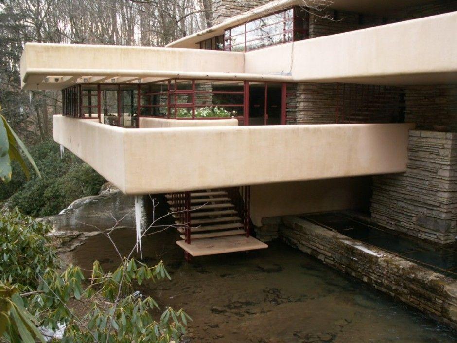Interior Falling Waterfall Exterior Staircase Ideas Architettura Architetti