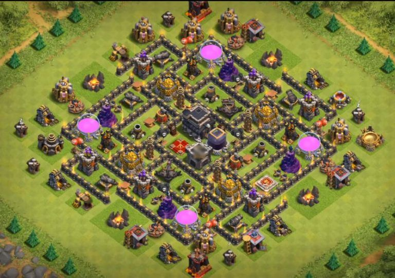 Best Th9 Hybrid Base 2019 Bes Coc Th 9 4