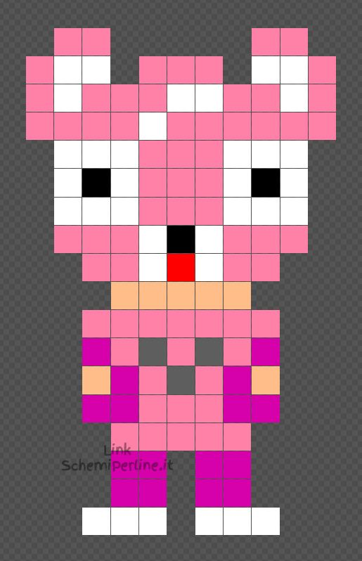 Cuddle Personaggio Fortnite Schema Hama Beads Pyssla Gratis