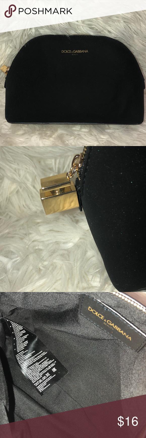 Dolce & Gabbana beauty makeup bag black very chic