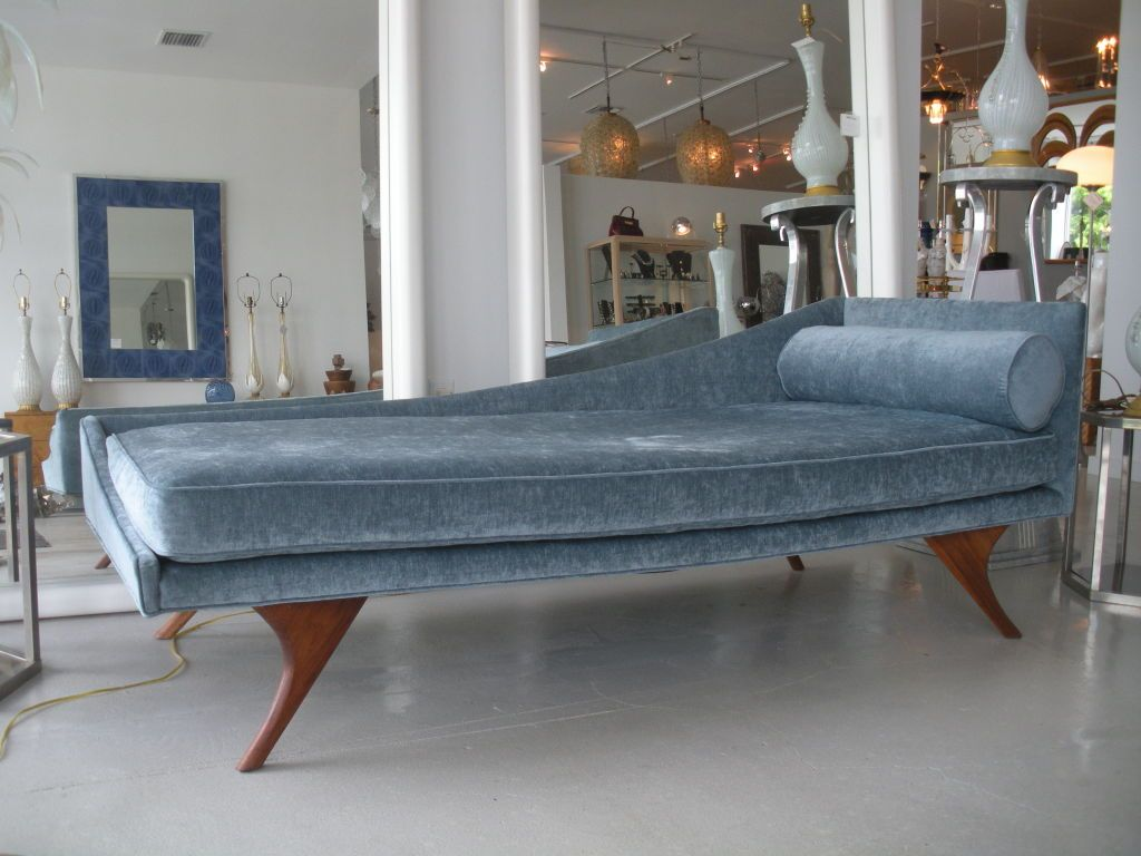 Mid Century Modern Chaise Lounge From A Unique Collection Of