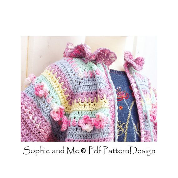 Summer Cardigan with Flowers Crochet Pattern di PdfPatternDesign