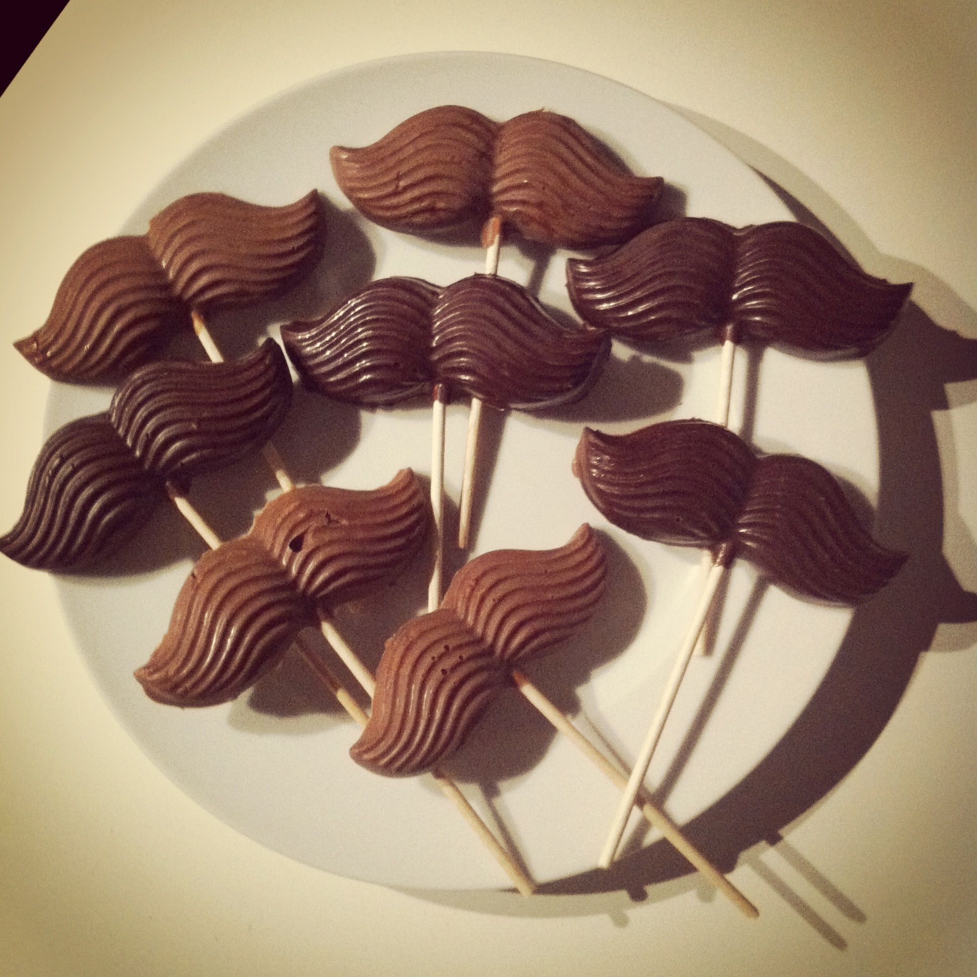 Already done: chocolate-moutaches!