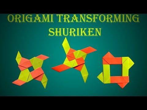 Origami Transforming Star Diy Transforming Ninja Star Home Made