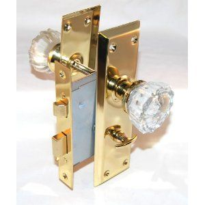 This is a privacy lock for a bed/bath that fits a mortise