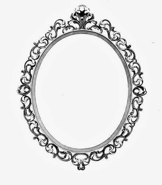 Ornate Oval Frame Drawing | Antique Oval Picture Frames Here is an ...