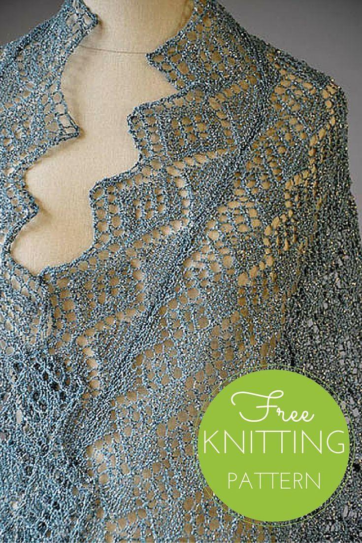 Whimsical Wrap Free Knitting Pattern | Knitting patterns free, Shawl ...