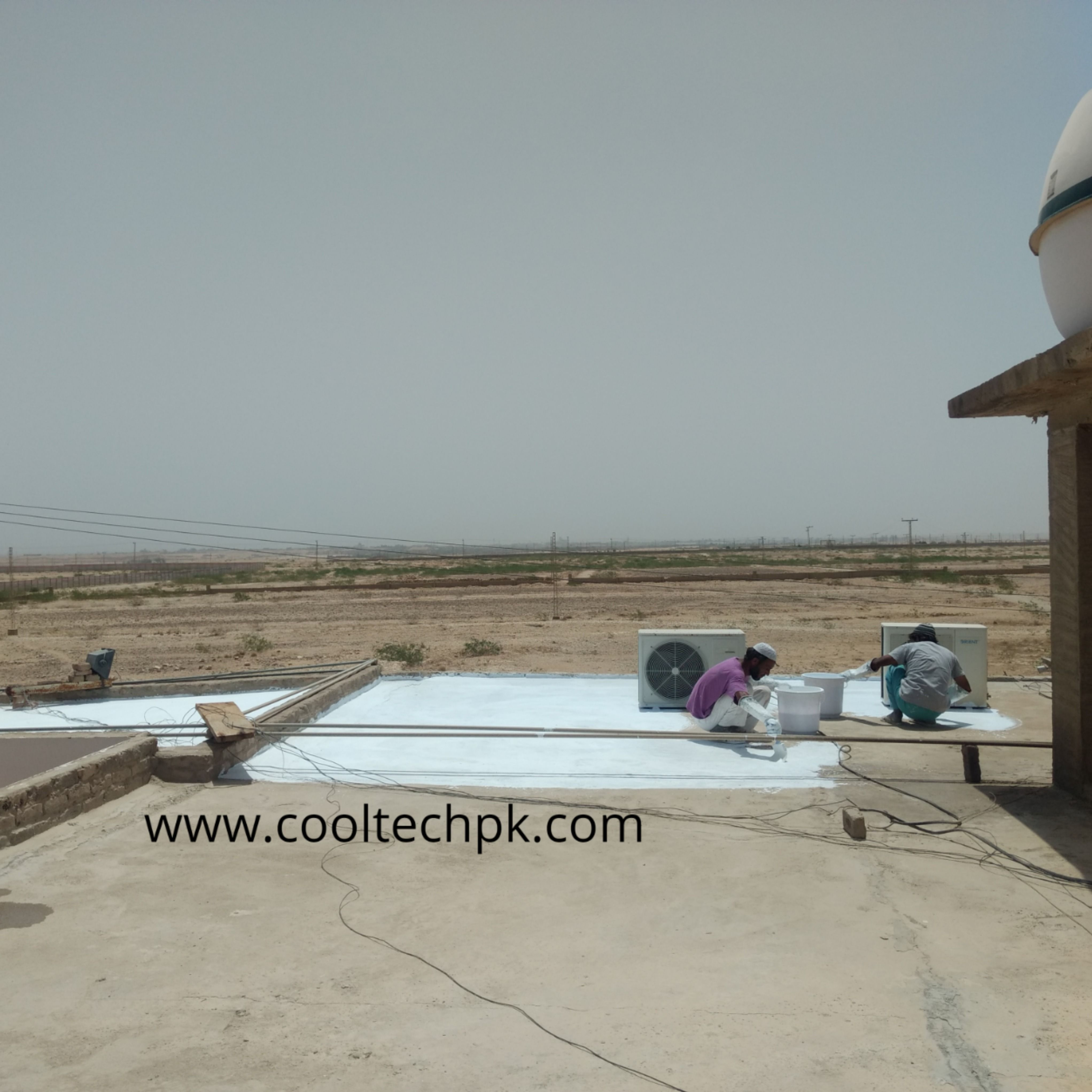 Roof Heat Proofing Karachi Cooltech In 2020 Roof Insulation Heat Roof