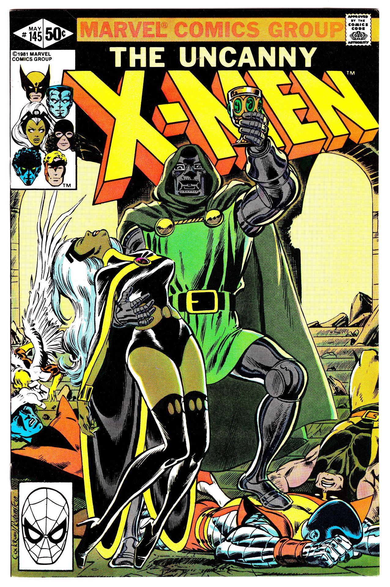 """vaultofcomics: """" UNCANNY X-MEN #145 (May 1981) Cover Art by Dave Cockrum """""""